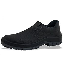 Sapato de Segurança Flex Elástico em Couro Preta - Número 42