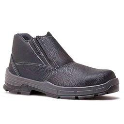 Botina de Segurança Sem Bico de Ferro Preta N° 40