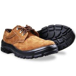 Sapato de Amarrar Estrada Castor com Bico em PVC N° 38