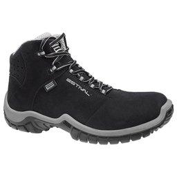 Sapato de Segurança Energy Cano Médio com Bico de PVC N°41 Cinza e Preto