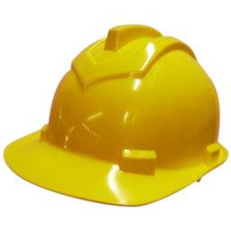 Capacete de Segurança 800 Amarelo Aba Frontal com Carneira Simples