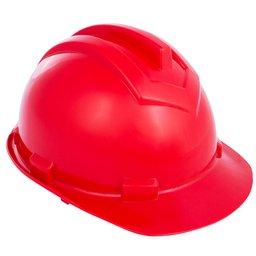 Capacete de Segurança 800 Vermelho Aba Frontal com Carneira Simples