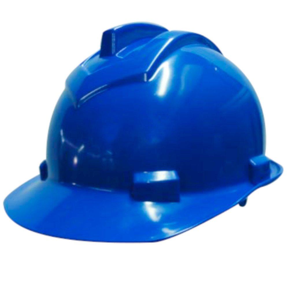 Capacete de Segurança 800 Azul Escuro Aba Frontal com Carneira Simples