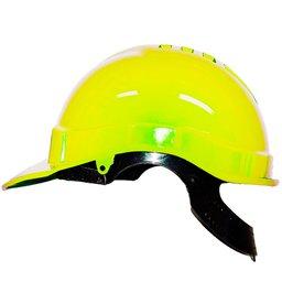 Capacete de Segurança Amarelo Fluorescente com Carneira Sintética Genesis