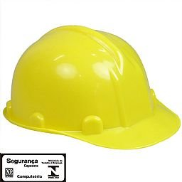 Capacete de Segurança Amarelo com Aba Frontal sem Carneira