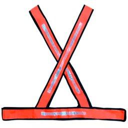Colete X Refletivo Laranja Tamanho Único