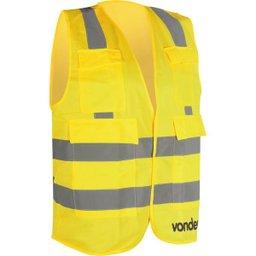 Colete Refletivo Tipo Blusão com Bolso Amarelo Cv 106