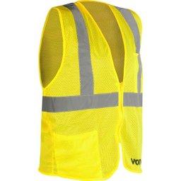 Colete Refletivo Tipo Blusão com Bolso e Ziper Amarelo Cv 104