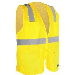 Colete Refletivo Tipo Blusão com Bolso e Ziper Amarelo Cv 108