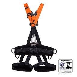 Cinturão de Segurança Paraquedista com Regulagem Total e 5 Pontos de Ancoragem