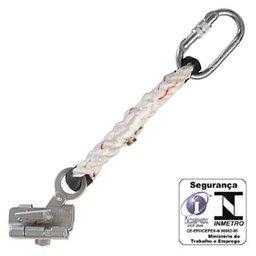 Trava-Queda de Aço Inox para Corda de 12mm Extensor e Corda com Mosquetão Oval