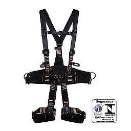 Cinturao Paraquedista / Abdominal Eletricista com Engate Rápido Anti Chama