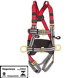 Cinto de Segurança Tipo Paraquedista com 4 Pontos de Ancoragem