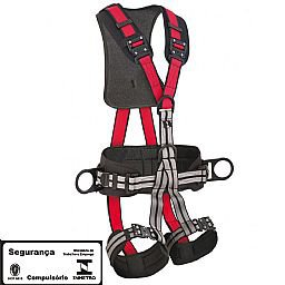 Cinto de Segurança tipo Paraquedista com 5 Pontos de Ancoragem