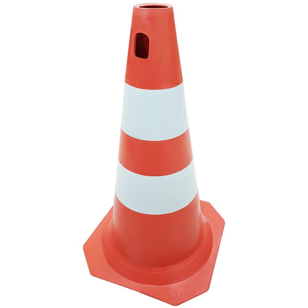 Cone PLT para Sinalização Laranja e Branco 50cm