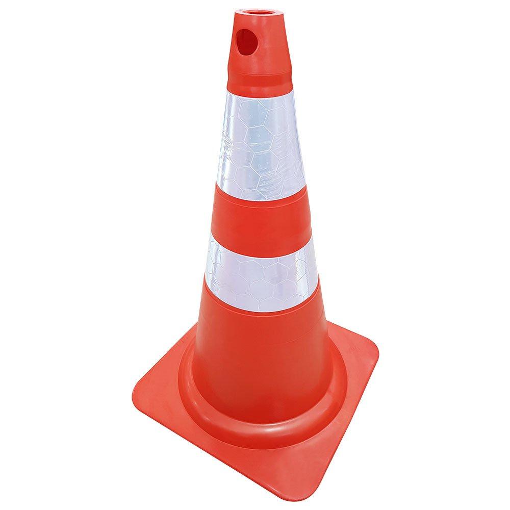 Cone Flexível Laranja Refletivo 75cm