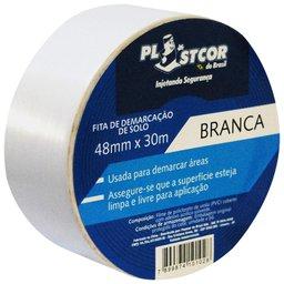 Fita de Demarcação PVC Branca 48mm x 30m