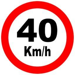 Placa Sinalização de Velocidade 40Km/h