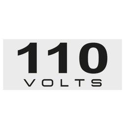 Placas de Sinalização 110 Volts 4 x 1,5 cm 10 Unidades