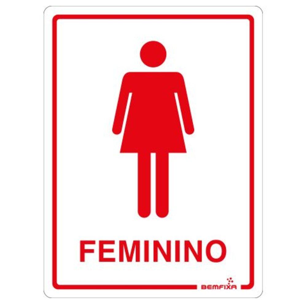 Placa para Banheiro Feminino 15 x 20 cm