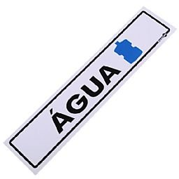 Placa Sinalizadora para Galão de Água