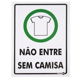 Placa Sinalizadora Proibido Entrar sem Camisa