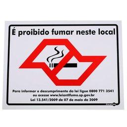 Placa Sinalizadora Proibido Fumar com Mapa de São Paulo