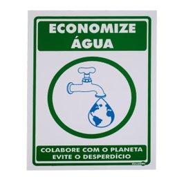 Placa Sinalizadora de Economize Água