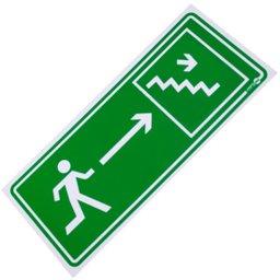 Placa Sinalizadora de Saída de Emergência pela Escada à Direita
