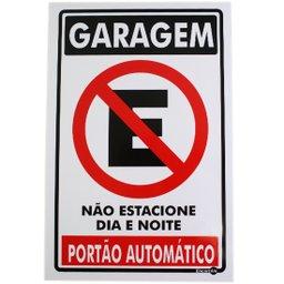 Placa Sinalizadora de Garagem, Não Estacione