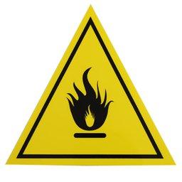 Placa Sinalizadora de Inflamável Triangular