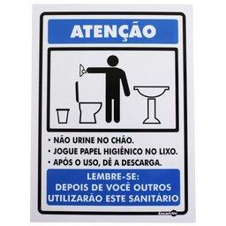 Placa Sinalizadora de Não Urine no Chão