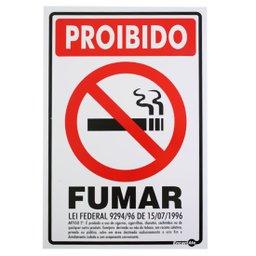 Placa Sinalizadora Proibido Fumar (Lei Federal)