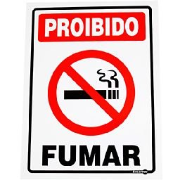 Placa Sinalizadora Proibido Fumar 15 x 20 cm