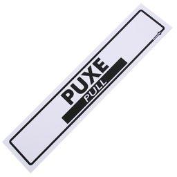 Placa Sinalizadora de Puxe Bilíngue
