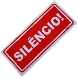 Placa Sinalizadora Silencio
