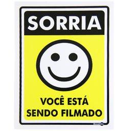 Placa Sinalizadora de Sorria Você está sendo Filmado