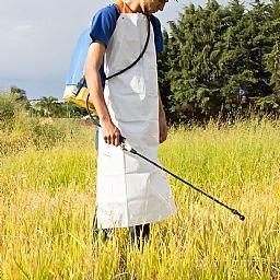 Avental Branco de PVC 70 x 120 cm com Forro de Poliéster