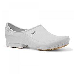Sapato Flip Impermeável Branco com Solado de Borracha Nº 39
