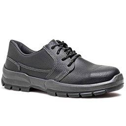 Sapato de Segurança Preto com Cadarço e Bico de Aço Nº 39