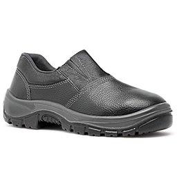 Sapato de Segurança Preto HLS em Microfibra com Elástico Nº 39