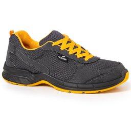 Tênis de Segurança Esportivo com Cadarço Cinza/Amarelo Nº 39