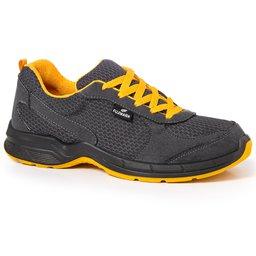 Tênis de Segurança Esportivo Cinza/Amarelo com Cadarço Nº 42