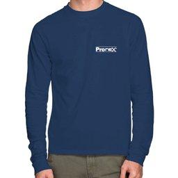 Camisa de Segurança Dry Fit UV 50 Manga Longa Azul Royal Tamanho P