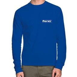 Camisa de Segurança Dry Fit UV 50 Manga Longa Azul Royal Tamanho M