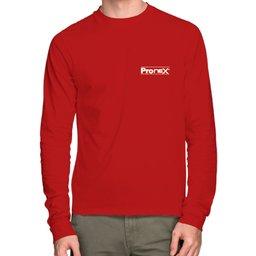 Camisa de Segurança Dry Fit UV 50 Manga Longa Vermelha Tamanho G