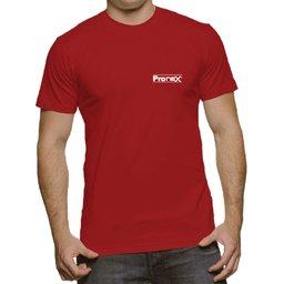 Camisa de Segurança Dry Fit UV 50 Manga Curta Vermelha Tamanho GG