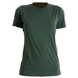 Camiseta Antiviral Feminina Manga Curta Verde Tamanho G