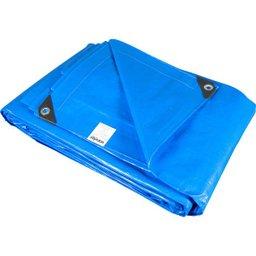 Lona reforçada de polietileno azul 12 m x 4 m  PLUS