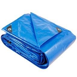 Lona Reforçada de Polietileno Azul 4m x 3m